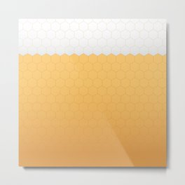 Foamy honeycomb Metal Print