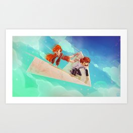 Flying Around Art Print