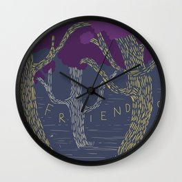 Dancing with my friends Wall Clock
