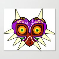 majoras mask Canvas Prints featuring Majoras Mask by fiono