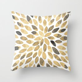 Watercolor brush strokes - neutral Throw Pillow