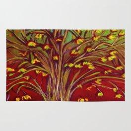 Abstract Fall tree Rug