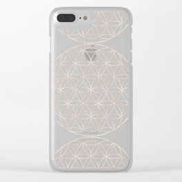 Mandala Flower of Life Sea Clear iPhone Case