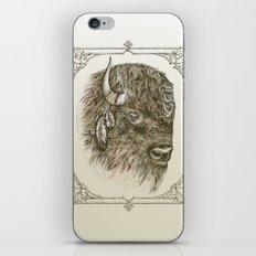Portrait of a Buffalo iPhone & iPod Skin