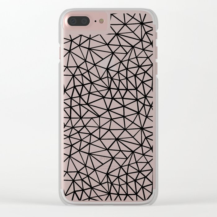Shattered R Clear iPhone Case