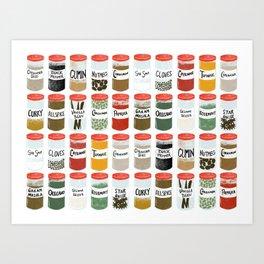 Spice Rack Art Print