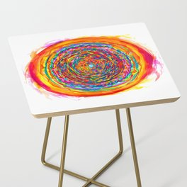 The Flag of the United States of Humankind Side Table