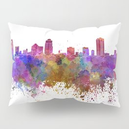 St Petersburg skyline in watercolor background Pillow Sham