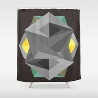 agents of shield Shower Curtains featuring Shield by Tracy