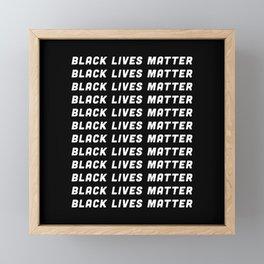 Black Lives Matter | BLM Anti Racism Framed Mini Art Print