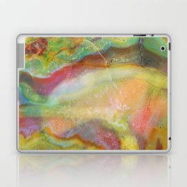 Colorful Abstract Marble Stone Green overtones Laptop & iPad Skin