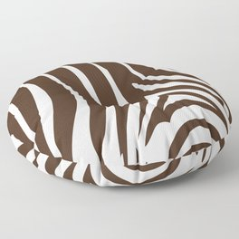 Zebra Stripes | Animal Print | Chocolate Brown and White | Floor Pillow
