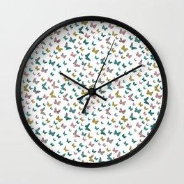 butterflies_pink Wall Clock