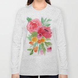 Floral Watercolor Bouquet Long Sleeve T-shirt