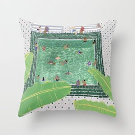 Green Riad Throw Pillow