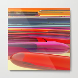 Abstract with colored lines Metal Print