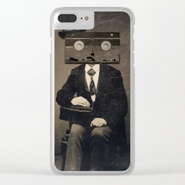 Faces of the Past: VHS Clear iPhone Case