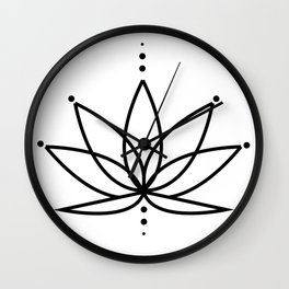 Simple Lotus Flower / Water Lily (Line Art Design) Wall Clock