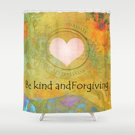Guitar Flowers Kind and Forgiving Shower Curtain