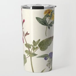 Pieter Ernst Hendrik Praetorius - Studies of wild flowers (1837) Travel Mug