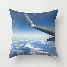 the Alps from the sky Throw Pillow