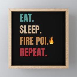 Fire Poi Gifts | Poi Fire Spinning Fire Spinner Framed Mini Art Print