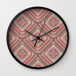 Folk Art Romanian tile Wall Clock