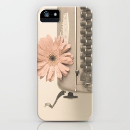 Soft Typewriter (Retro and Vintage Still Life Photography) iPhone Case