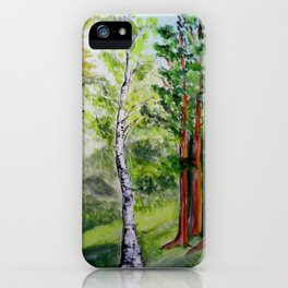 Forest - spring  iPhone Case