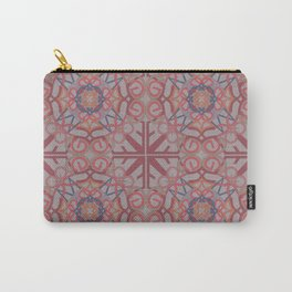 Gender Equality Tiled - Burgundy Melon Carry-All Pouch