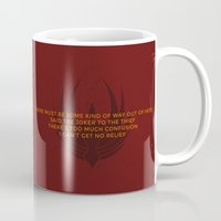 battlestar galactica Mugs featuring Battlestar Galactica Viper MK II by jake