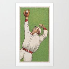 Vintage Baseball Outfielder Illustration (1911) Art Print