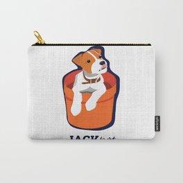 """""""Jackpot: Jack RussellTerrier Pop Art Puppy Carry-All Pouch"""
