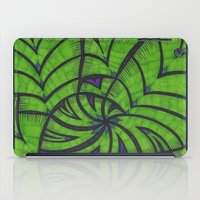 lime green iPad Cases featuring Lime Green Flock by Sarah J Bierman