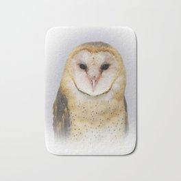 Portrait of a Barn Owl Bath Mat