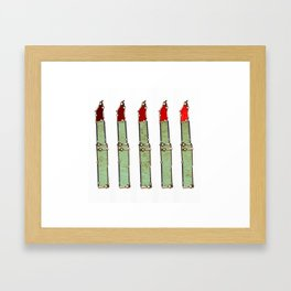 Watch these Lipsticks Framed Art Print