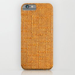 Heritage - Hand Woven Cloth Yellow iPhone Case