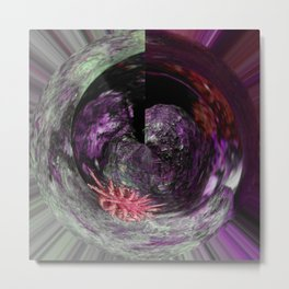 Pychedelic Cacti Metal Print