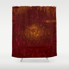 Liquid Ember  Shower Curtain
