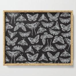 Lepidoptera Black & White Serving Tray