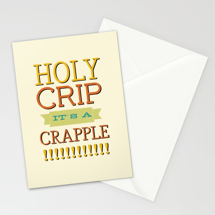 Holy Crip It's A Crapple! Stationery Cards by nicolewynn