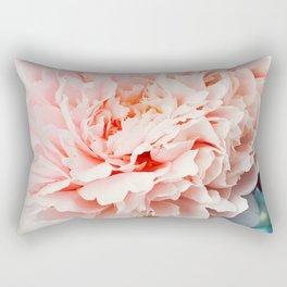 Peony Flower Photography, Pink Peony Floral Art Print Nursery Decor A Happy Life  - Peonies 1 Rectangular Pillow