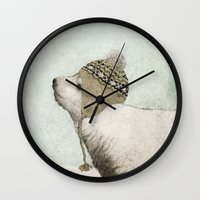 jon snow Wall Clocks featuring First Winter by Eric Fan
