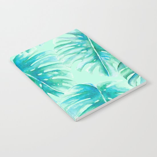 Paradise Palms Mint Notebook