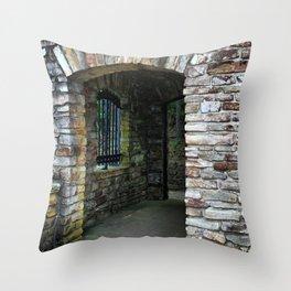 Classic Brick Doorway Throw Pillow