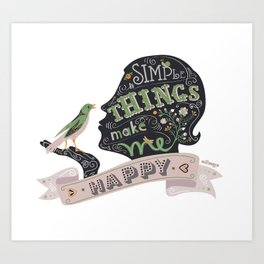 Simple Things Art Print