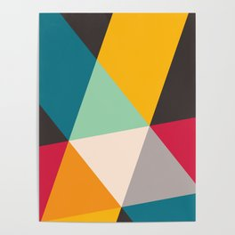 Geometric Triangles Poster