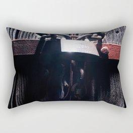 Lock on a heavy door Rectangular Pillow