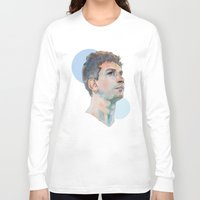 messi Long Sleeve T-shirts featuring Lionel Messi by Megan Diño