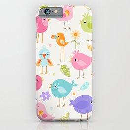 Birds - Off White iPhone Case